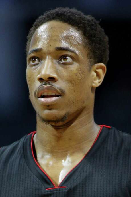 This a headshot of basketball player DeMar DeRozan. DeMar DeRozan is an active basketball player for the Toronto Raptors as of Oct. 25, 2016 in the NBA. (AP Photo/Nell Redmond) Photo: Nell Redmond, FRE / FR25171 AP