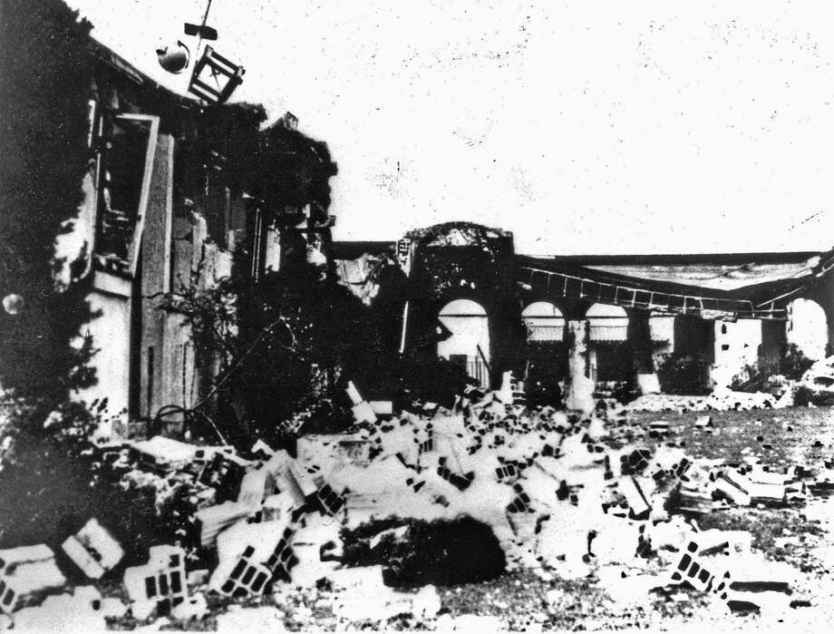 This 1933 photo provided by the U.S. Geological Survey shows the ruins of Long Beach, Calif., Polytechnic High School after a massive earthquake struck on March 10, 1933. New research by the USGS suggests several earthquakes that hit the Los Angeles Basin in the 1920s and 1930s may have been triggered by oil drilling. (U.S. Geological Survey via AP) Photo: HOGP / U.S. Geological Survey