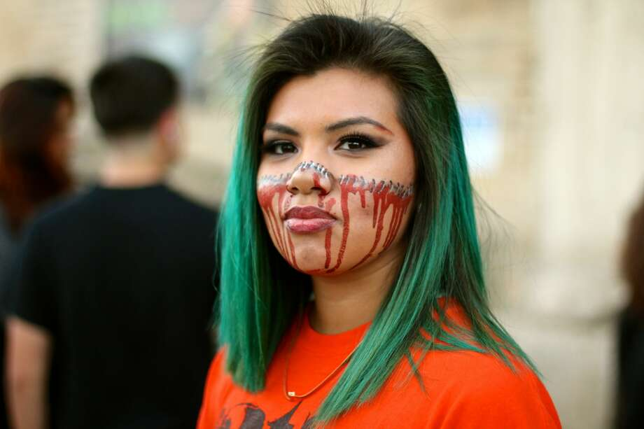 Some celebrated Halloween by taking a trip to 13th Floor Haunted House in San Antonio Monday, Oct. 31, 2016. Photo: Yvonne Zamora