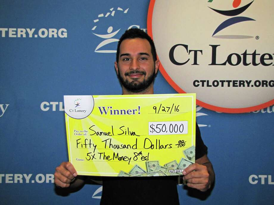 Samuel Silva, 24, of Fairfield, the owner and operator of Planet Pizza in Greenwich, won $50,000 in October on a 5X The Money ticket. Photo: CT Lottery Photo