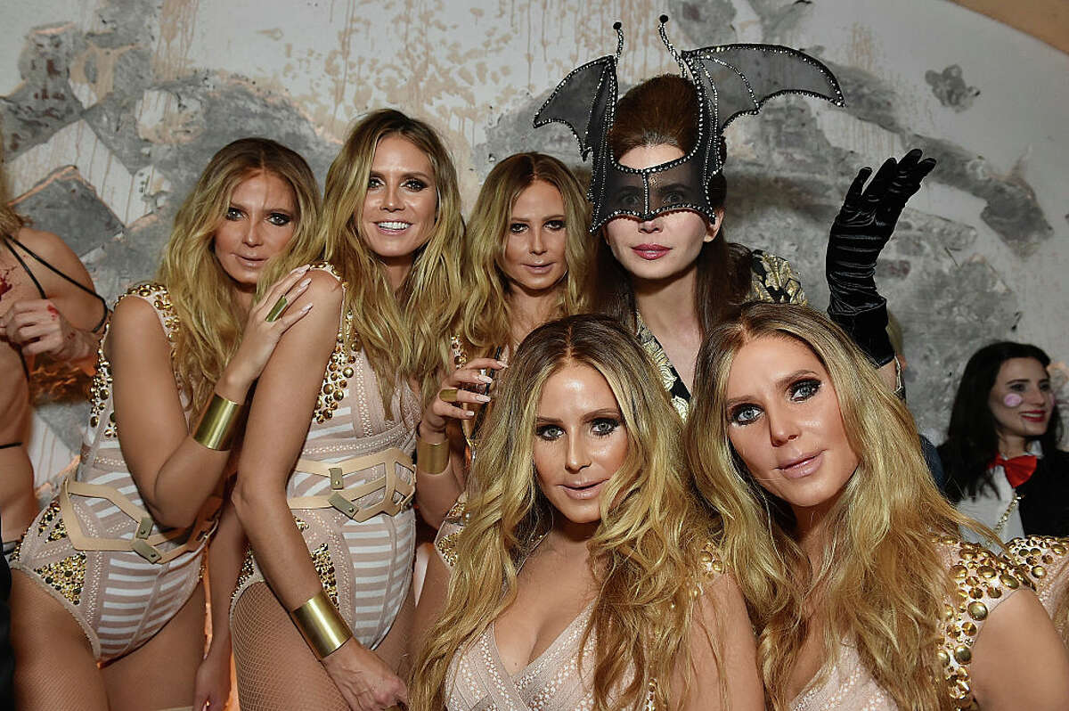 NEW YORK, NY - OCTOBER 31: Model Heidi Klum (2rd L) and producer Desiree Gruber attend Heidi Klum's 17th Annual Halloween Party sponsored by SVEDKA Vodka at Vandal on October 31, 2016 in New York City. (Photo by Mike Coppola/Getty Images for Heidi Klum)