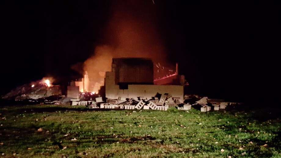 Tereasa Nims | for the Daily News Gladwin firefighters are investigating a fire that destroyed a vacant hunting cabin in the 2000 block of M-30 Sunday night.