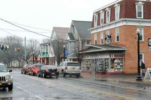 Businesses along Delaware Ave. at the four corners on Wednesday, Feb. 24, 2016 in Delmar, N.Y. (Lori Van Buren / Times Union)