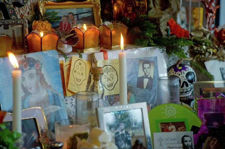 Altar from the Dia de los Muertos – Day of the Dead exhibit 2016 at the Casa Ramirez Boutique in Houston. Photo: Agapito Sanchez For Casa Ramirez