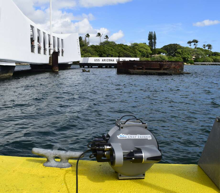A Canadian drone company called Deep Trekker recently took a small drone underwater to map and document the wreck of the USS Arizona in Honolulu, Hawaii. As the 75th anniversary of the attack on Pearl Harbor looms, the footage is especially haunting considering that the wreck is also the grave of some 900 souls who fought back against attacking Japanese forces on Dec. 7, 1941. Photo: Deep Trekker
