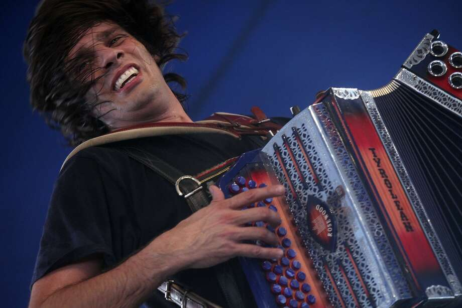 Alex Meixner, with the Alex Meixner Band, entertains the crowd during Wurstfest in New Braunfels in 2012. Photo: Lisa Krantz /San Antonio Express-News / © 2012 San Antonio Express-News