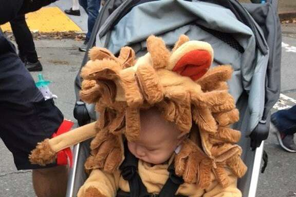 Small Halloween reveler at NOPA Halloween festivities on Grove Street