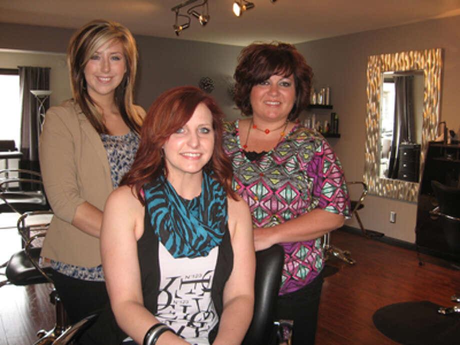Stylists at Reputation Salon in Edwardsville are, from left: Natalie Draper, Sadie Hester and Jamie Alvarez-Miller. Photo: Krista Wilkinson-Midgley/Intelligencer