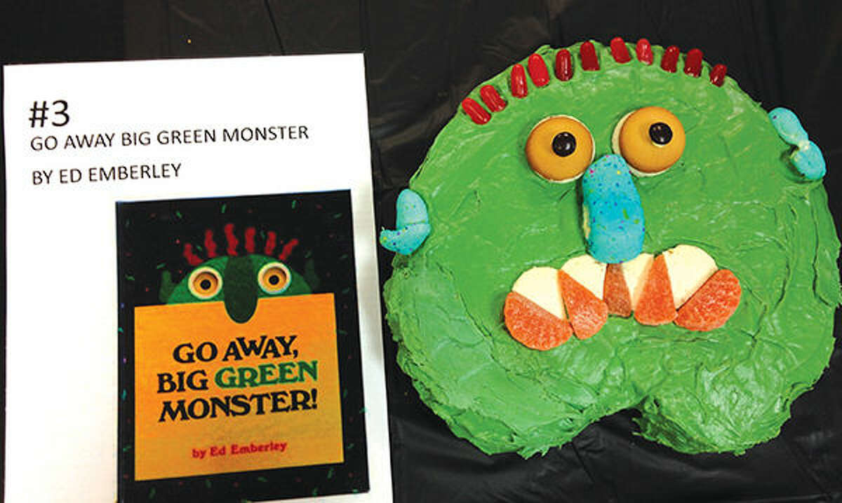 """One of last year's entries at the Glen Carbon Library Edible Books contest was based on the book, """"Go Away, Big Green Monster,"""" by Ed Emberley."""