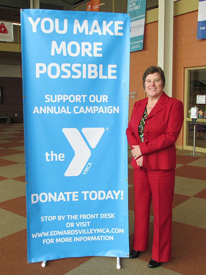 Joan O'Saben, YMCA Board President and Annual Campaign Chair. The Edwardsville YMCA recently started their Annual Campaign, that seeks to help make the YMCA's programs available to all. Photo: For The Intelligencer