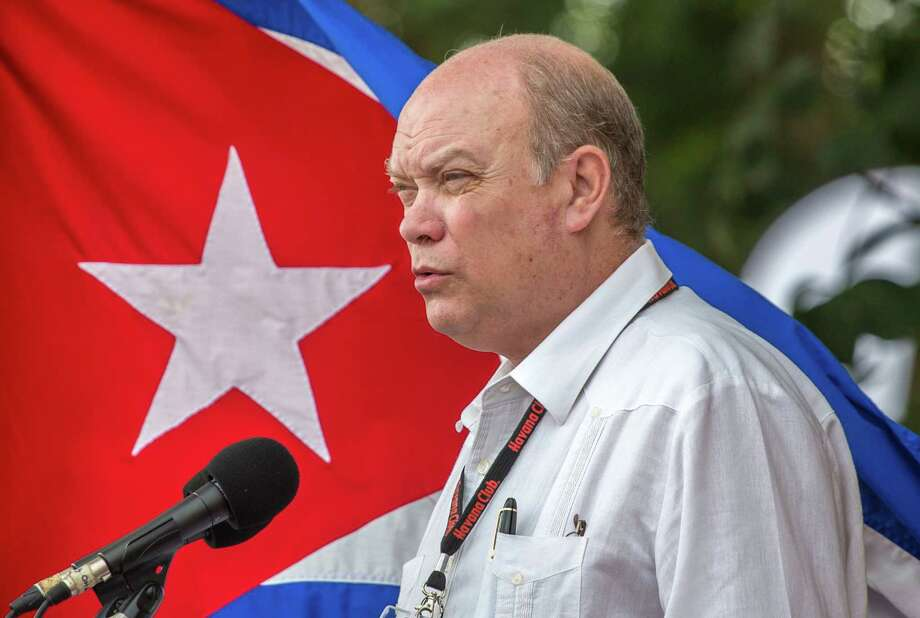 Cuba's Minister of Foreign Trade Rodrigo Malmierca makes the opening speech for the 34th Trade Fair in Havana, Cuba, Monday, Oct. 31, 2016. A week-long event of commerce is under way with participants from 75 countries. (AP Photo/Desmond Boylan) Photo: Desmond Boylan, STR / Copyright 2016 The Associated Press. All rights reserved.