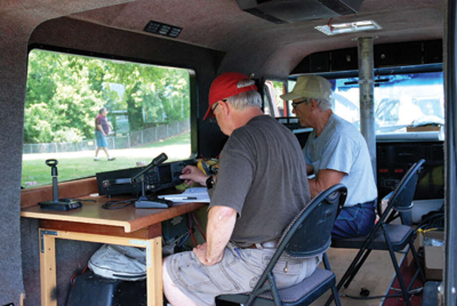 On Saturday, June 23rd, the Egyptian Radio Club held their annual Field Day event at Township Park in Edwardsville. Repeater Chairman Marty Schultz (left) and License Trainer Lou Cassidy (right) began recording contacts around 1:00 p.m. On July 7th & 8th a one and a half day class will take place at Anderson Hospital in Maryville to assist those pursuing a HAM radio license. It will be an intensive class covering the entire pool of questions for the Technician Class license. Reviewing a test manual is recommended before attending the class. Contact the Club at: www.w9aiu.org for more details. Photo: Mark Polege/Intelligencer