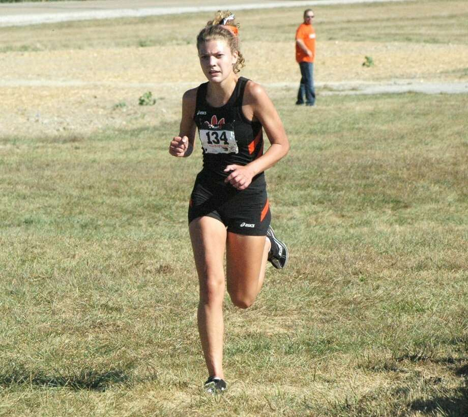 Edwardsville Tiger Allie Sweatt led the EHS girls' cross country team to the team title Wednesday in the Tiger Fall Classic at the SIUE 5K course.Sweatt finished third individually in the race.