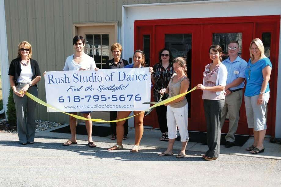 Members of the Edwardsville/Glen Carbon Chamber of Commerce joined the staff of Rush Studio of Dance for a ribbon cutting ceremony recently.