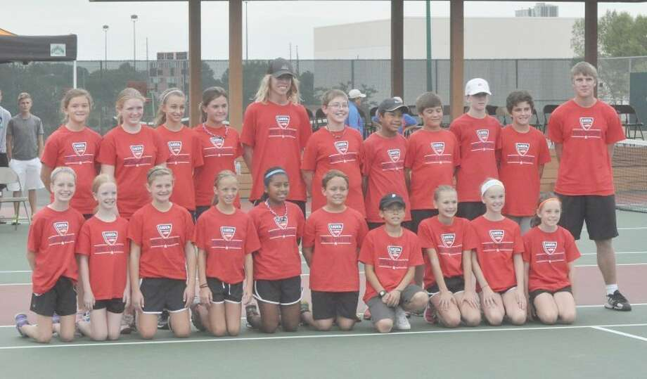 The ball kids from the Edwardsville Futures tournament that completed on Sunday at the Edwardsville Tennis Center behind the high school were used during the quarterfinals, semifinals and finals of the event.