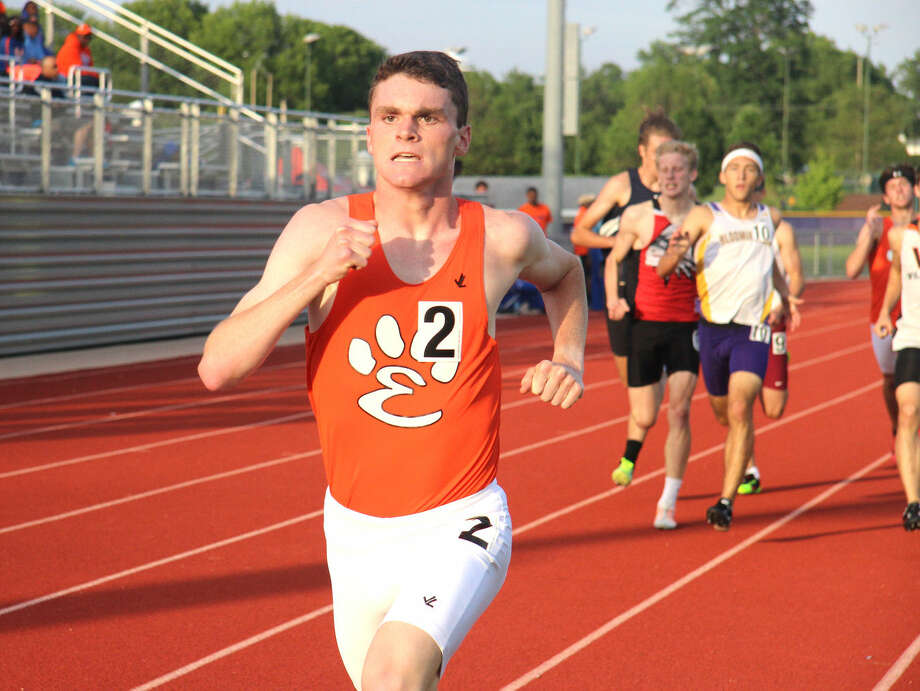 Edwardsville's Wes Schoenthal competes in the 1,600-meter run at the Class 3A Normal West Sectional, held May 22 at Bloomington High School. On Friday, Schoenthal won his heat in the 800-meter run in the preliminary round of the state meet at Charleston and had a second-best overall time of 1:54.13.