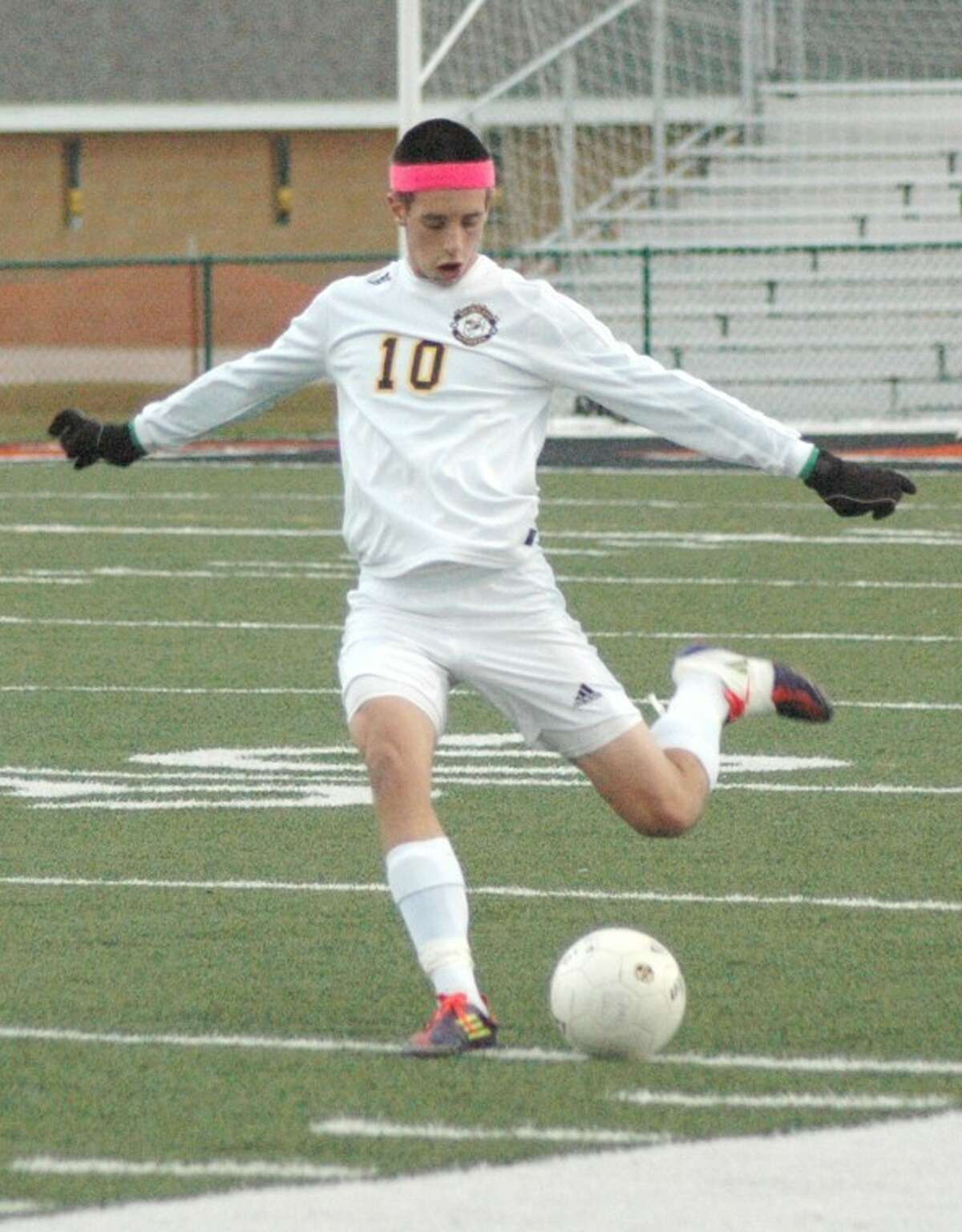 Metro's Matt Rankin clears a ball on defense Wednesday against Columbia. The Eagles dismissed the Knights from the postseason with a 2-0 victory.