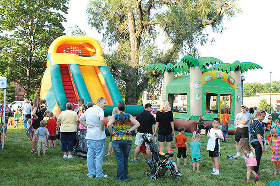 The Route 66 Festival - conducted annually in Edwardsville City Park - has made an effort to become more family friendly in recent years. Photo: Bill Tucker/Intelligencer