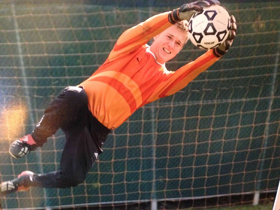 Tom Pinnell makes a save during his days as a goalkeeper for the Edwardsville boys' soccer team. Photo: For The Intelligencer