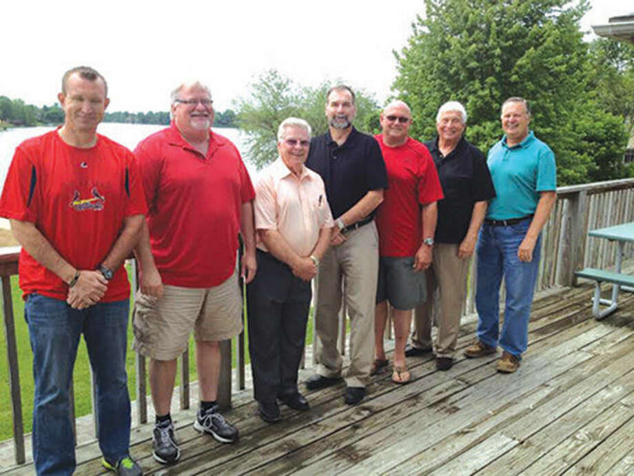 Holiday Shores board of directors pose for a photo after the Holishor Association Annual Meeting held May 16. From left are: Darren Onwiler, Bob Lowrance, Jim Perotti, David Decker, Roger Rawson, Richard Hertel and Monte Thus. Bob Lowrance was elected president at the executive board meeting conducted after the annual meeting. Photo: Laura Scaturro/Intelligencer