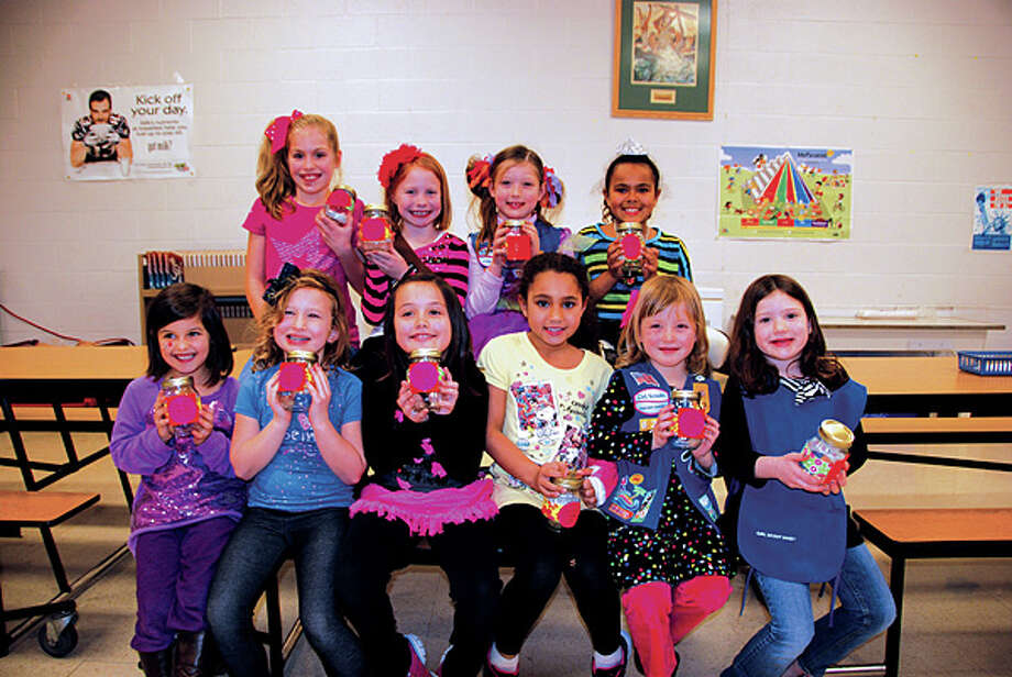 In the back row from left to right: Callie Cunningham, Morgan Viehman, Makenzie McFarlin, and Autumn Wilson Front row from left to right: Charli Arana, Cameron Williams, Kielee Schreiber, Melanie Wilson, Ivy Obrecht, and Lainey McFarlin. Photo: Submitted To The Intelligencer