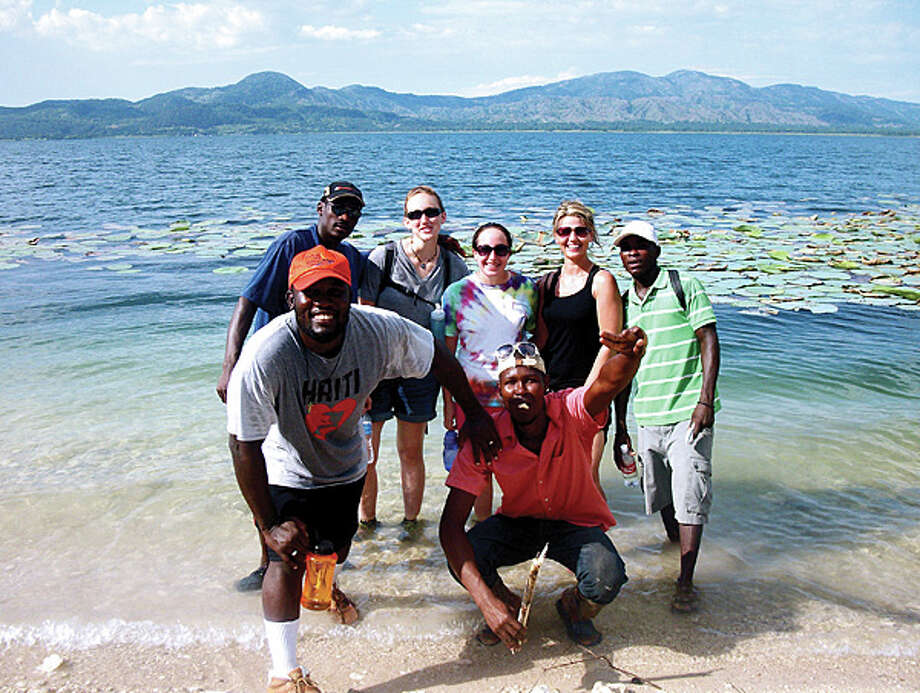 Photo: Erica Preston, In Back At Center, While On A Mission Trip To Haiti.