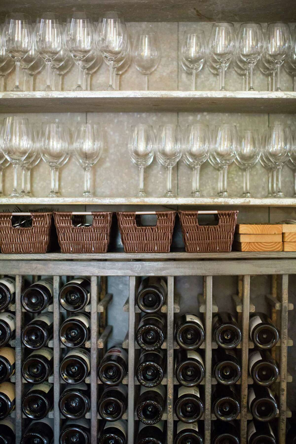 The wine list includes biodynamic and organic picks from the mid-$20s to $1,000 California cult offerings. (Photo by Michelle Girard for JAF.)