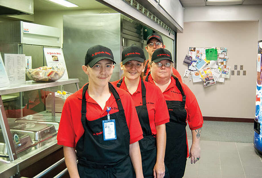 The staff at A Quick Bite cafe, which is located inside the Madison County Administration Building.