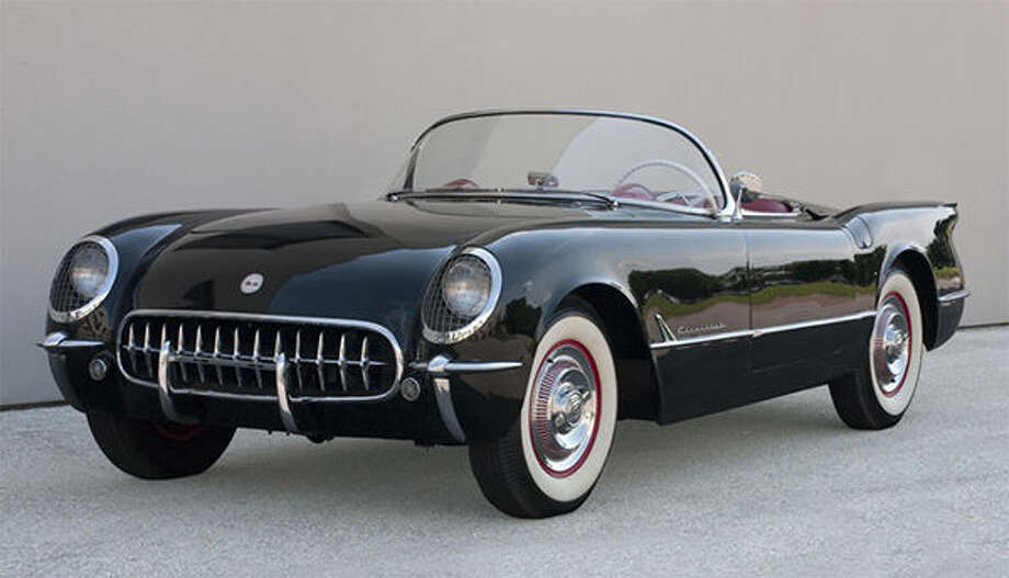 Harley Earl, 1893-1969; made by Chevrolet of General Motors, Detroit, and manufactured in St. Louis; Corvette, 1954; plastic, fiberglass, chrome, rubber, leather, glass, canvas, and assorted metals; 51 × 167 × 72 inches; Collection Stephen F. Brauer. Photo: For The Edge