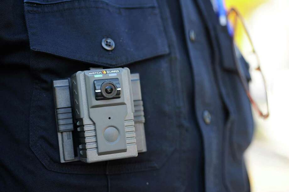 The body camera training for Stamford police officers has been postponed until the city develops a policy for the devices and reaches an agreement with the union about their use. Photo: Michael Cummo / Hearst Connecticut Media / Stamford Advocate