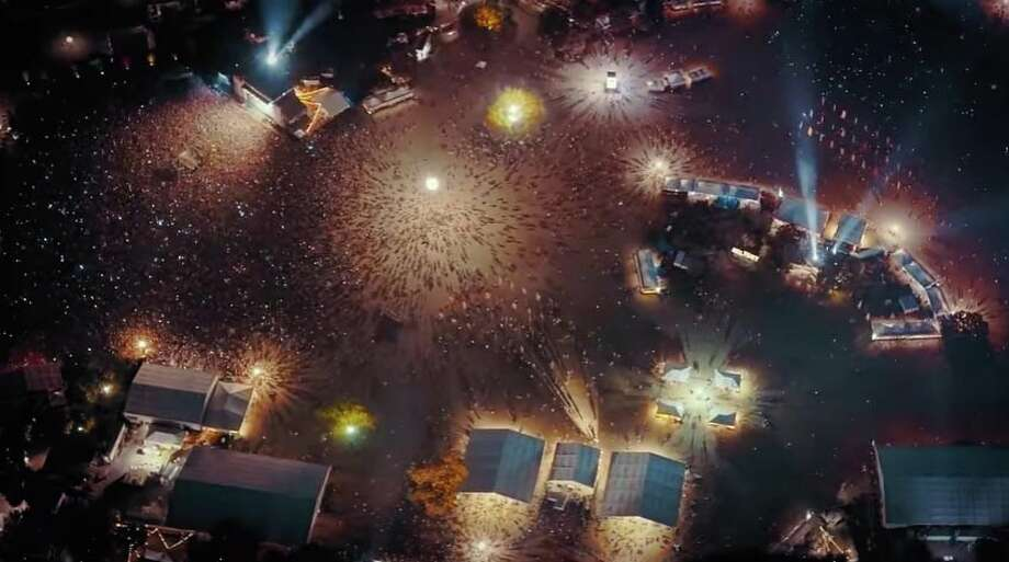 Still image from the ACL Fest 2016 4K video - Austin City Limits Music Festival Night Flight @ 2000 ft. Photo: Youtube/Jason Nolasco