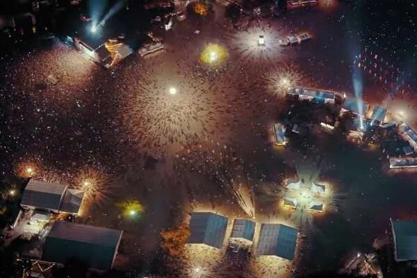 Still image from the ACL Fest 2016 4K video - Austin City Limits Music Festival Night Flight @ 2000 ft.