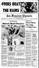 Historic Chronicle Front Page December 03, 1982  First artificial heart surgery for Barney Clark   Chron365, Chroncover