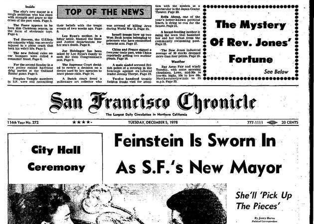 Chronicle Covers: The historic election of Mayor Dianne Feinstein