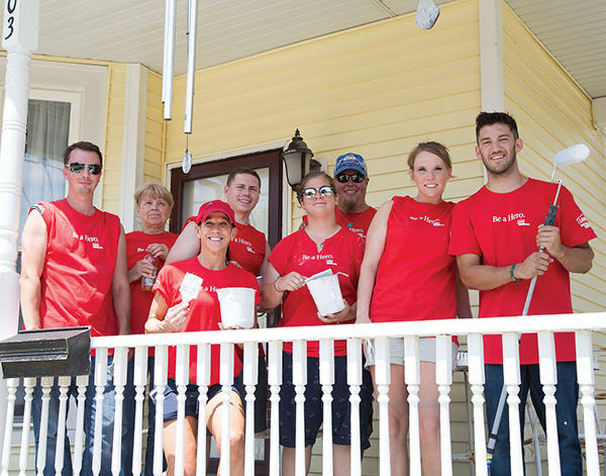 Volunteers from local Lowe's Home Improvement stores worked alongside L&C YouthBuild students, Monday, June 20, on beautification efforts as a part of the program's Central Avenue Beautification Project.
