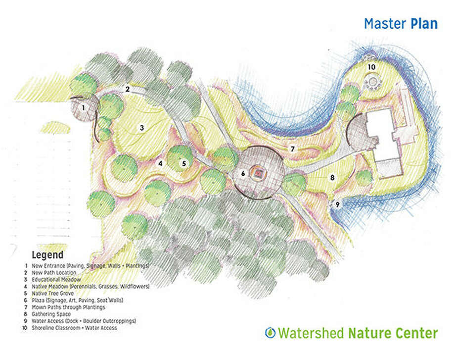 Pictured is an artist's rendition of the work that will be done at the Watershed Nature Center in Edwardsville.