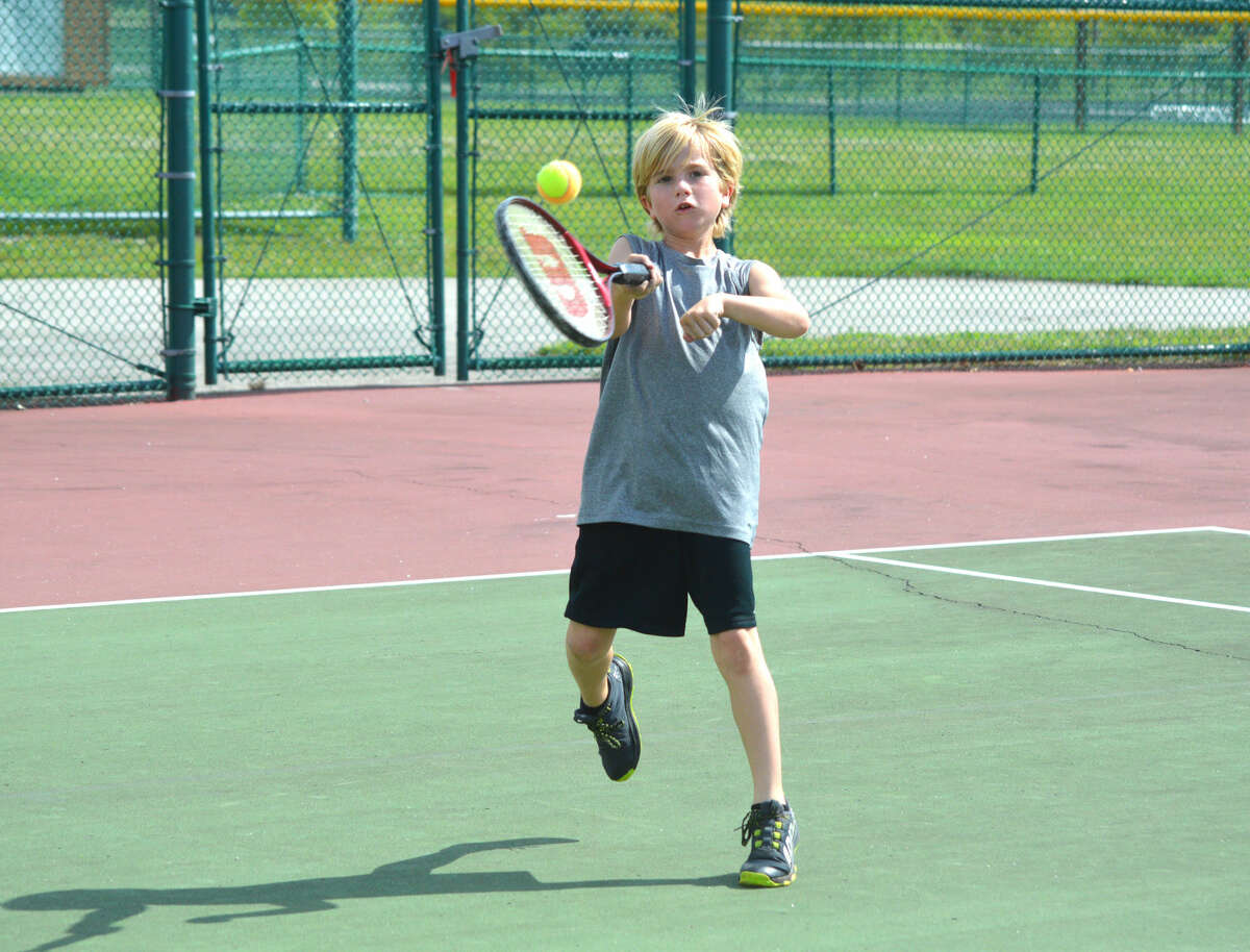 Cullen Underwood, 9, of Edwardsville, will be among the players competing in the Edwardsville Junior Satellite this weekend at the Edwardsville High School Tennis Center.
