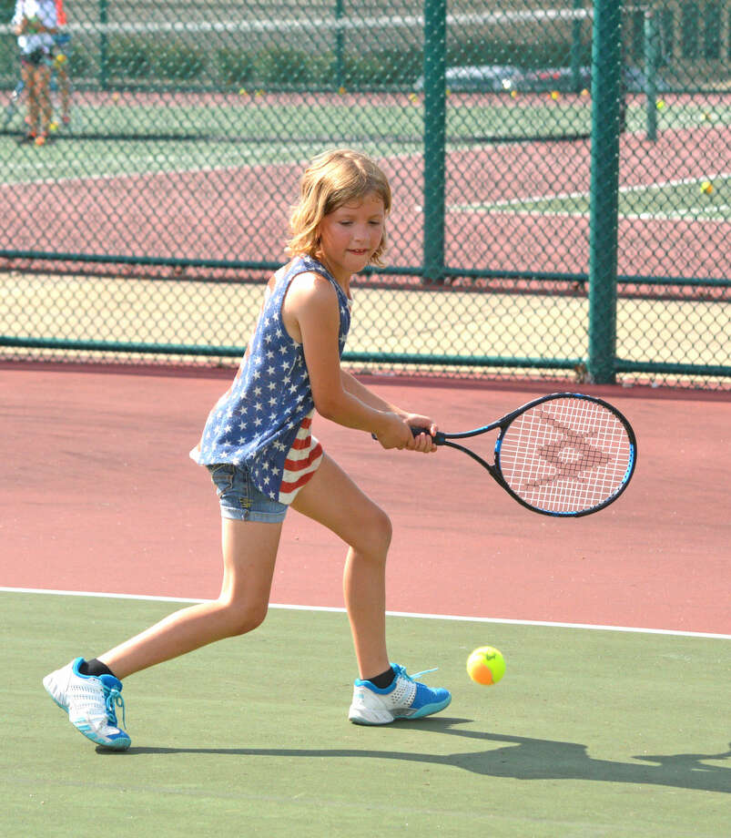 Toby Hawkes, 8, of Hamel, will be among the players competing in the Edwardsville Junior Satellite this weekend at the Edwardsville High School Tennis Center.