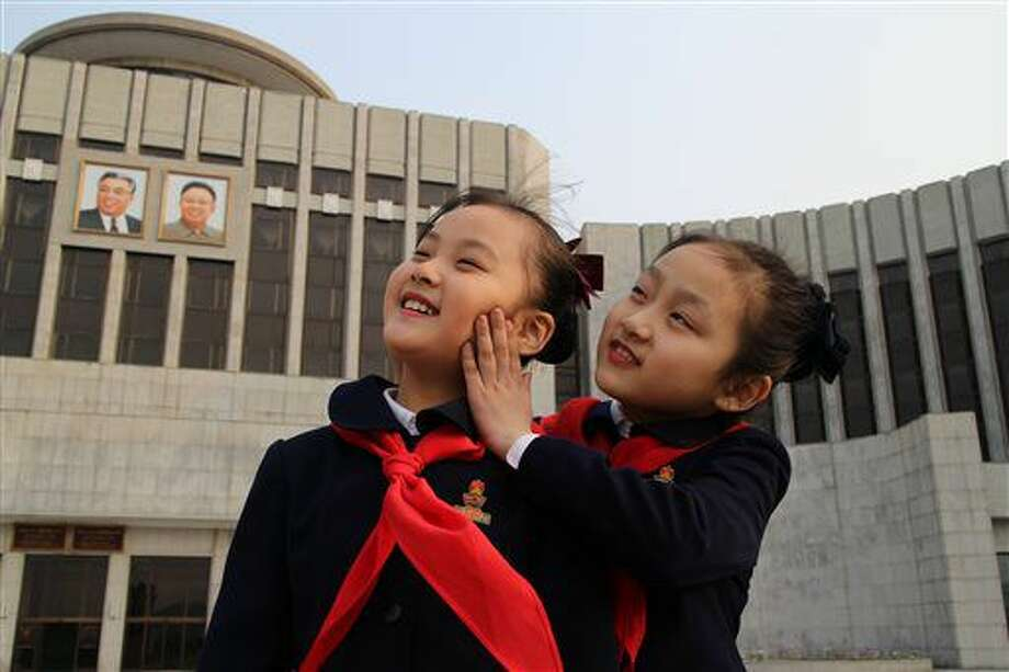 """This image released by Icarus Films shows a scene from Vitaly Mansky's """"Under the Sun."""" gives a haunting and rare look into North Korean life and the stranglehold the country's totalitarian regime has on its people. Director Vitaly Mansky was allowed to shoot a documentary in the country, provided North Korea could script it, pick the locations, coach the actors and review the footage. (Icarus Films via AP) Photo: HONS"""