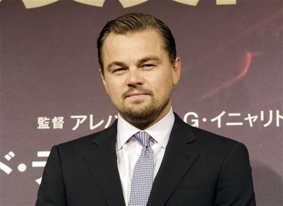 """En esta foto del 23 de marzo del 2016, Leonardo DiCaprio posa durante la promoción de la película """"The Revenant"""" en Tokio. La fundación de DiCaprio anunció dádivas por 15,6 millones de dólares para esfuerzos de conservación. (AP Foto/Eugene Hoshiko, Archivo) Photo: Eugene Hoshiko"""