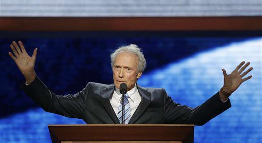 FILE - In this Aug. 30, 2012 file photo, actor Clint Eastwood addresses the Republican National Convention in Tampa, Fla. At the last Republican National Convention, the sight of Clint Eastwood onstage arguing to an empty chair quickly went viral. This time, Eastwood likely won't be there and organizers are scrambling to ensure there aren't any empty chairs onstage either. (AP Photo/Charles Dharapak, File) Photo: Charles Dharapak