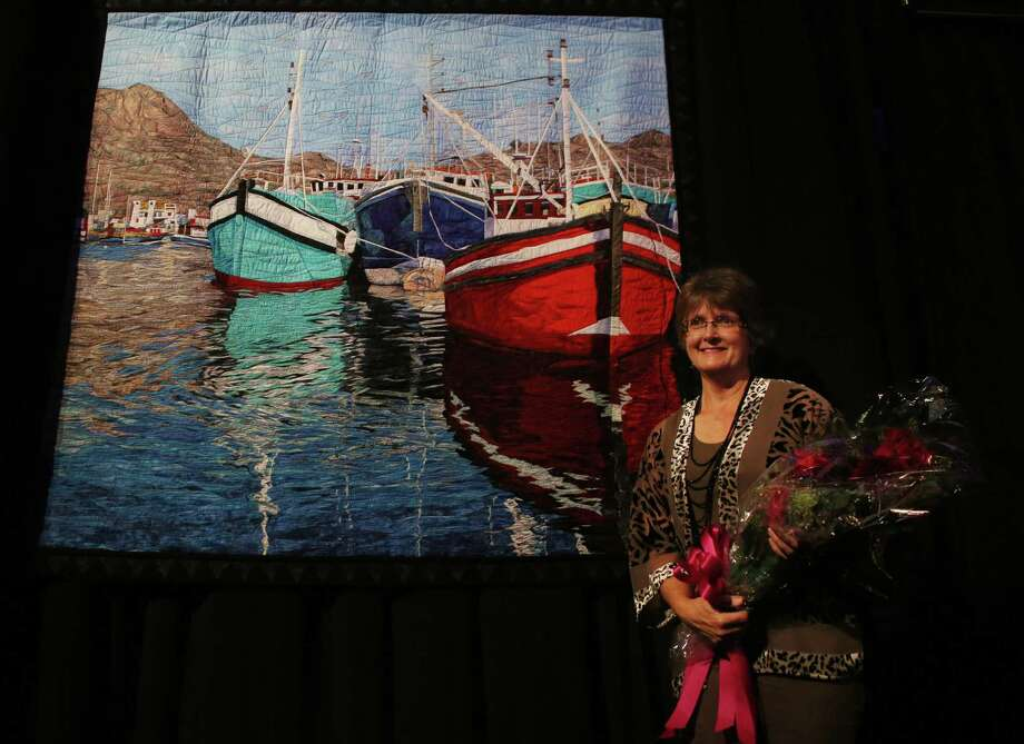 "Cynthia England's quilt, ""Reflections of Cape Town,"" won Best of Show at the International Quilt Festival held at the George R. Brown Convention Center on Nov. 1. Photo: Mark Mulligan, Houston Chronicle / © 2016 Houston Chronicle"