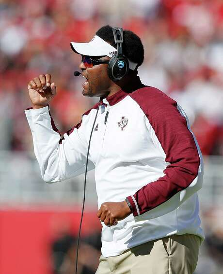 TUSCALOOSA, AL - OCTOBER 22:  Head coach Kevin Sumlin of the Texas A&M Aggies reacts during the game against the Alabama Crimson Tide at Bryant-Denny Stadium on October 22, 2016 in Tuscaloosa, Alabama.  (Photo by Kevin C. Cox/Getty Images) Photo: Kevin C. Cox, Staff / 2016 Getty Images