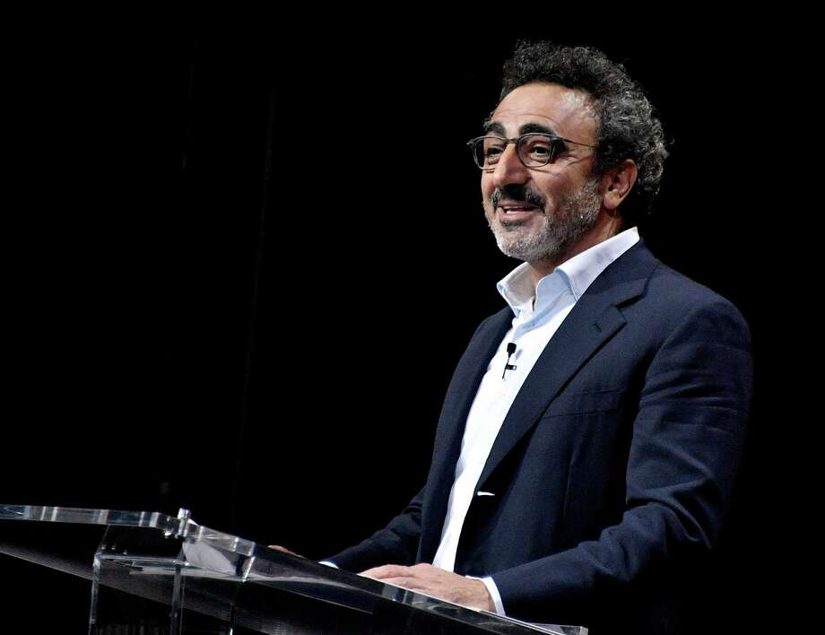 """Chobani founder Hamdi Ulukaya is a Turkish immigrant of Kurdish descent who built up his business and now employs about 2,000 people making Greek yogurt. Sharing"""" at the Vanity Fair New Establishment Summit at Yerba Buena Center for the Arts on October 19, 2016 in San Francisco, California.  (Photo by Mike Windle/Getty Images for Vanity Fair) Photo: Mike Windle, Staff / 2016 Getty Images"""