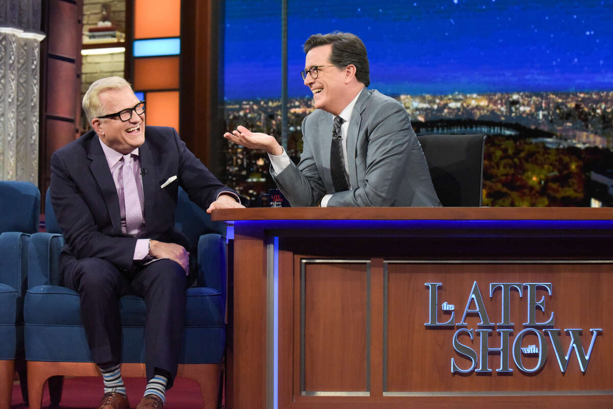 'Price is Right' host Drew Carey laughed with Stephen Colbert Friday about the time S.A.'s Rita Verreos gave him an 'enthusiastic' hug and 'kicked me in the nuts.'