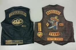 Seven motorcycle gang members were arrested in El Paso Nov. 1, 2016 in relation to an August fight between motorcycle gang members. Police recovered two vests, seen here, from members of the Brass Knuckles and Bandidos gangs.