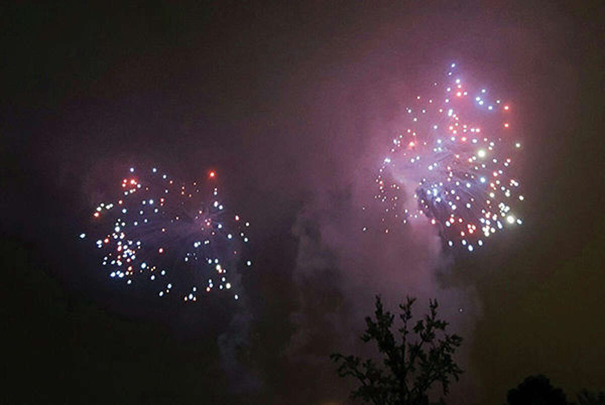 Some fireworks displays, like those at Fair Saint Louis shown here, went on as planned.