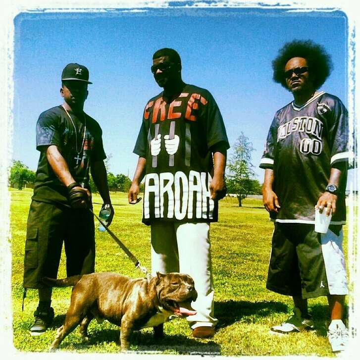 Active members of Street Military are, from left, Lil Flea, KB da Kidnappa and DJ Icey Hott.