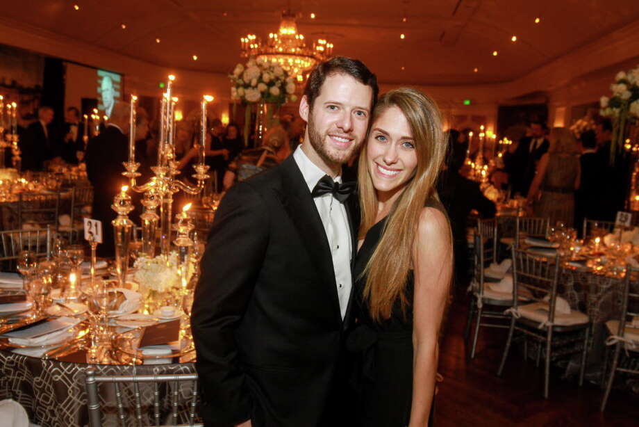 """Blake Helfman and Hilary Rosenstein at """"An Evening for Rice's Honour.""""  (For the Chronicle/Gary Fountain, November 1, 2016) Photo: Gary Fountain, Gary Fountain/For The Chronicle / Copyright 2016 Gary Fountain"""