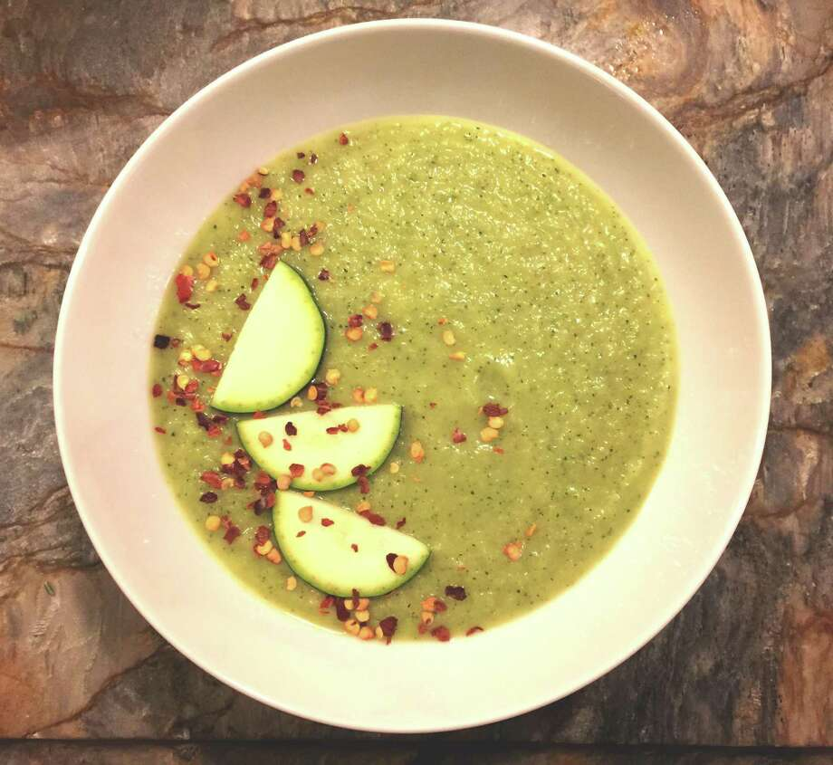 """My version of Gwyneth Paltrow's Zucchini and Leek Soup from her cookbook, """"It's All Easy."""" Photo: Emily Spicer /San Antonio Express-News"""